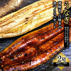 【ふるさと納税】うなぎ蒲焼き・白焼きの食べくらべセット(170g×計2尾)