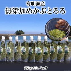 【ふるさと納税】有明海産無添加めかぶとろろ(250g×10パック)