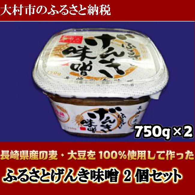 【ふるさと納税】0005.ふるさとげんき味噌 2個セット