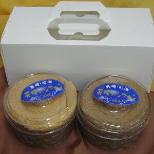 【ふるさと納税】【A6-005】天使のシフォンケーキ チョコとプレーン2個セット