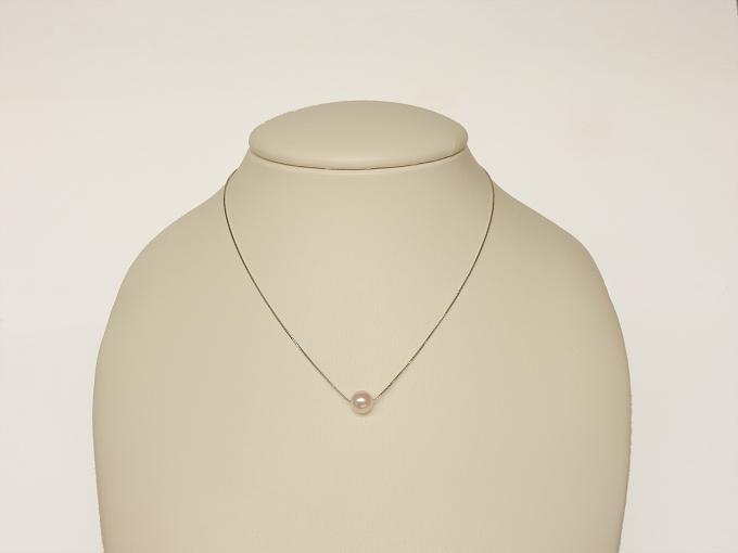【ふるさと納税】E-013 対馬産アコヤ真珠「TSURU」スルーペンダントネックレス