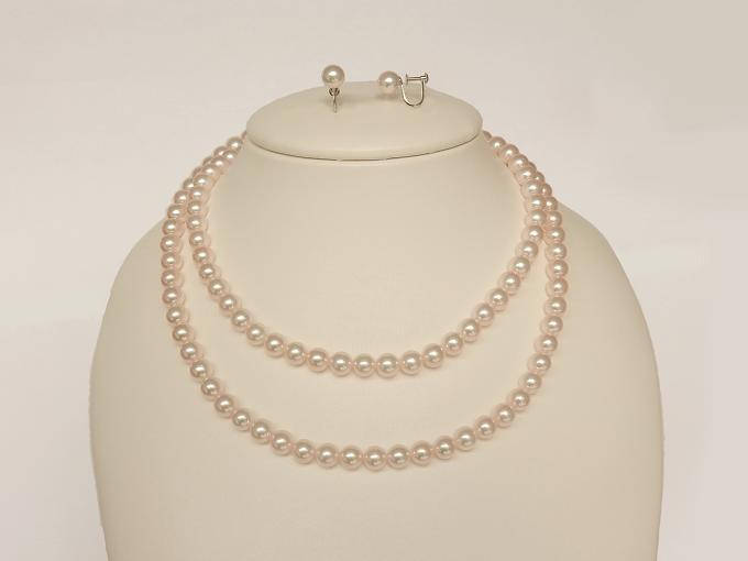 【ふるさと納税】H-005 対馬産アコヤ真珠「TSURU」2点セット C