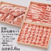 【ふるさと納税】雲仙あかね豚セット