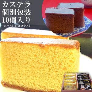 【ふるさと納税】カステラ個別包装10個入り(ハニー×5・ショコラ×5)