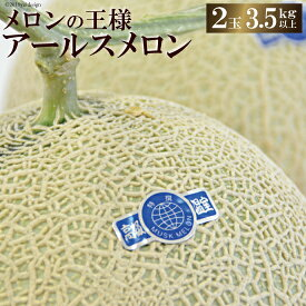 【ふるさと納税】メロンの王様 アールスメロン 2玉(3.5キロ以上)