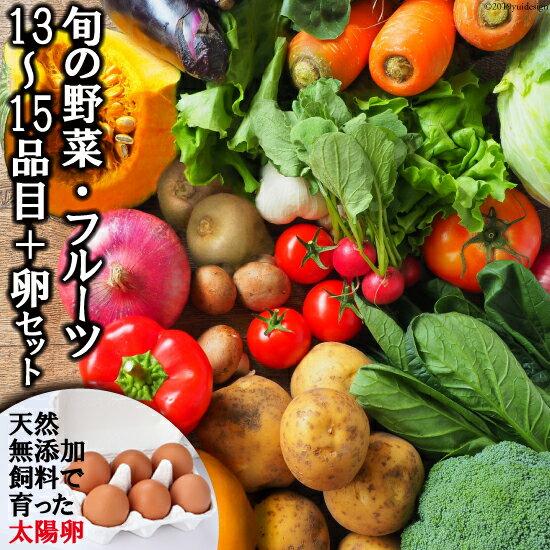 【ふるさと納税】旬の野菜・フルーツセット【太陽卵6個付き】 13品目から15品目の豪華セット