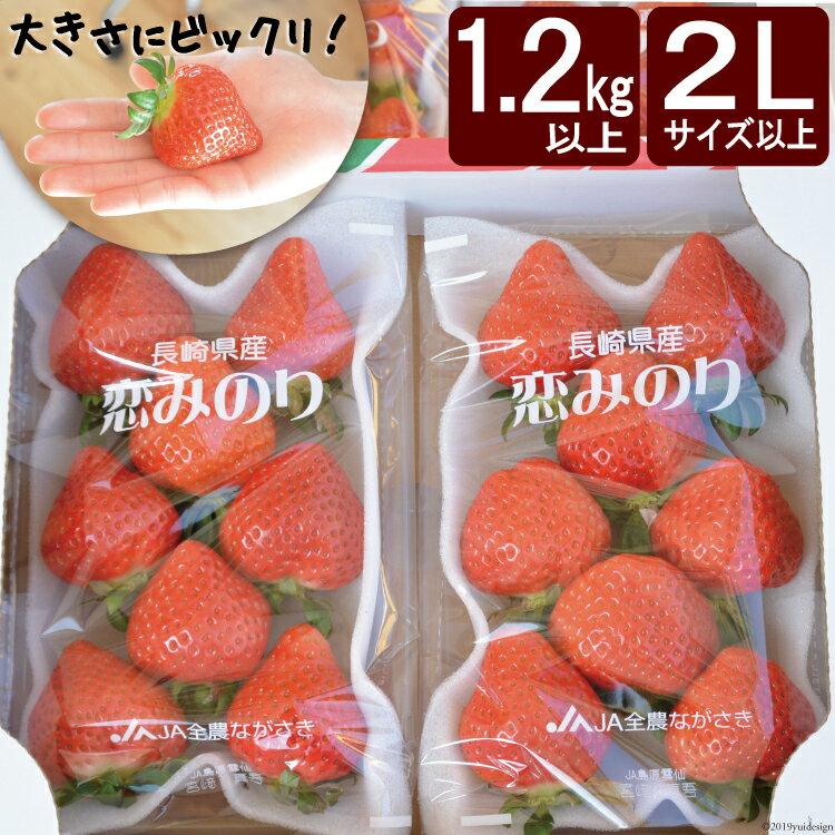 【ふるさと納税】【大粒限定】【1.2kg以上】 いちご「恋みのり」期待の新品種 2Lサイズ以上