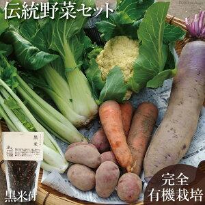 【ふるさと納税】【完全有機無農薬】竹田カタツムリ農園の伝統野菜セット 黒米付き