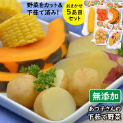 【ふるさと納税】あつ子さんの下茹で野菜5品目セット