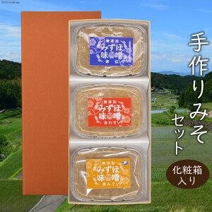 【ふるさと納税】(完全無添加)手作り 家伝/合わせ/麦みそ3種 詰合せ (A02)