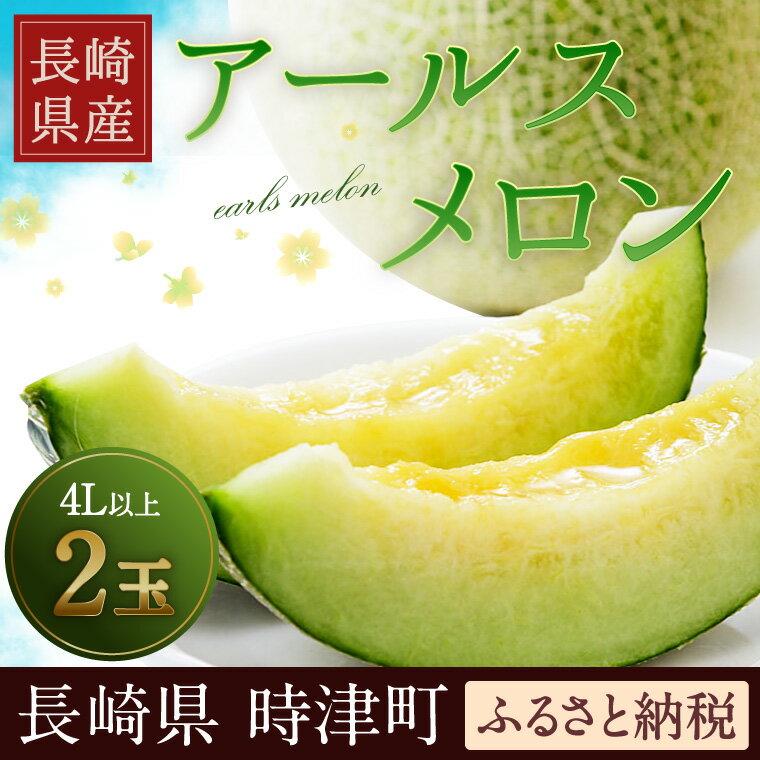 【ふるさと納税】長崎県産 アールスメロン (マスクメロン) 4L×2玉