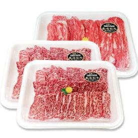 【ふるさと納税】長崎和牛 牛肉 焼肉・すき焼きセットA【焼肉用550g×2セット もも薄切り550g】(1,650g)