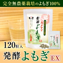 【ふるさと納税】亀山堂カメヤマ発酵よもぎEX120粒送料無料発酵無農薬栽培よもぎサプリメント
