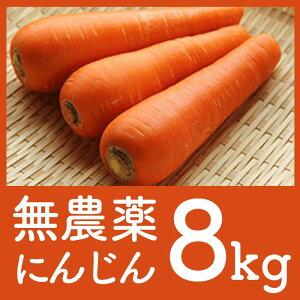【ふるさと納税】DA02【皮まで食べられる!?安心安全の無農薬人参をお届け】JAS有機人参8kg(百笑会)