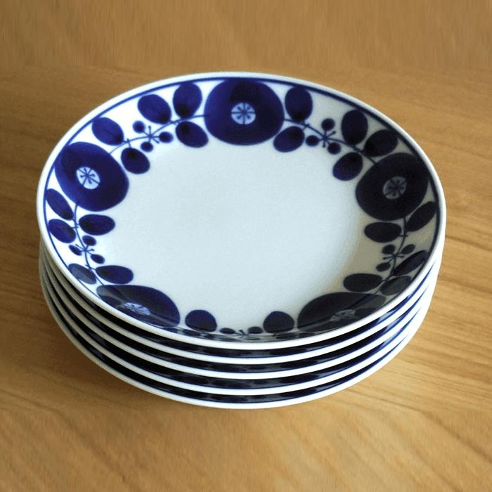 【ふるさと納税】TA17 【BLOOM】ブルーム プレート(S)リース 5枚セット【白山陶器】