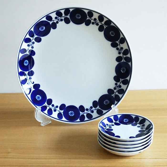 【ふるさと納税】TA21 【BLOOM】白磁に映える瑠璃色が鮮やかな6ピースセット【白山陶器】