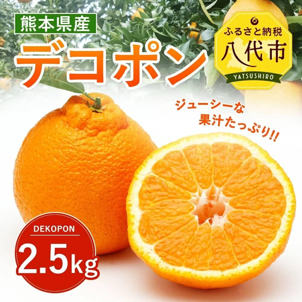 【ふるさと納税】デコポン 2.5kg 送料無料 熊本県産 みかん フルーツ 果物 ギフト 贈り物 不知火 でこぽん