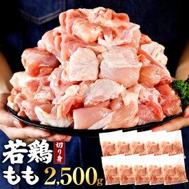 【ふるさと納税】小分けで便利! 九州産 若鶏 もも 切り身 合計2.5kg 250g×10パック 小分け ボリューム 鶏肉 鶏もも肉 お肉 モモ 冷凍 送料無料 【2021年4月以降順次発送】