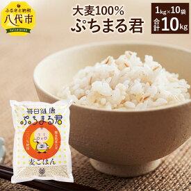【ふるさと納税】熊本県産 大麦100% ぷちまる君 1kg×10袋 合計10kg 国産大麦 食品 低カロリー 雑穀 穀物 麦ごはん 食物繊維 送料無料