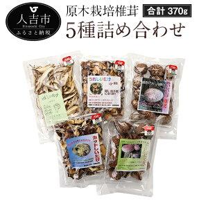 【ふるさと納税】原木栽培椎茸 5種詰め合わせ 合計370g 椎茸 しいたけ カットしいたけ スライス椎茸 熊本県人吉産 九州 送料無料