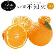 【ふるさと納税】人吉産不知火しらぬい3kg(8〜10玉目安)1箱デコポン柑橘類熊本果物フルーツ送料無料
