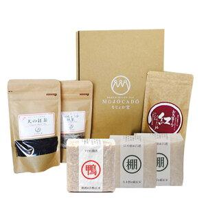 【ふるさと納税】みなまた地紅茶と米〈合鴨米/棚田米〉のセット 紅茶 和紅茶 ティー アイガモ米 白米 精米 玄米 こうちゃ しょうが紅茶 お米 こめ セット 熊本県産 水俣市産 送料無料