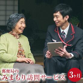 【ふるさと納税】みまもり訪問 サービス 3ヶ月 年3回 日本郵便株式会社 熊本県 水俣市 家族 両親 健康 安否確認 見守り 安心 代行 高齢者