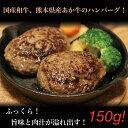 【ふるさと納税】あか牛ハンバーグステーキ(150g×5個)