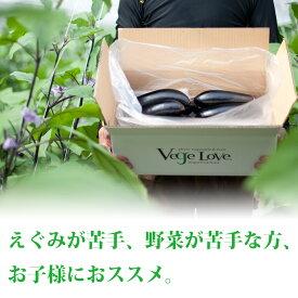 【ふるさと納税】産地直送 減農薬・低硝酸栽培 ナス 3kg