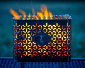 【ふるさと納税】No.232 焚き火台 Bonfire Grill(焚き火台セット・タケカゴ柄) / アウトドア レジャー キャンプ グランピング