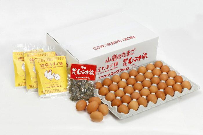 RA-102【ふるさと納税】山鹿のたまご・肥後もっこす鶏・鶏塩たまご麺セット