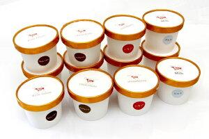 【ふるさと納税】カップアイスセット ミルク、チョコ、いちご、ラムレーズン 110ml 各3個   【シリカファーム】