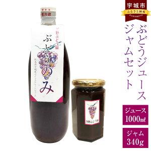 【ふるさと納税】ぶどうジュース ジャムセット ジュース 1000ml ジャム 340g 国産 九州産 瓶 葡萄 ぶどう ブドウ グレープ 自家栽培 飲料 ドリンク 送料無料