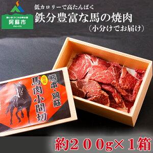 【ふるさと納税】阿蘇 特産 焼肉用 馬肉 冷凍 お取り寄せ おうちごはん バーベキュー 惣菜 おつまみ