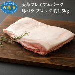 【ふるさと納税】天草プレミアムポーク豚バラブロック約1.5kg
