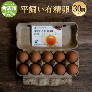 【ふるさと納税】平飼い有精卵 30個入 パック たまご 卵 鶏卵 生卵 熊本県産 九州産 国産 熊本県 合志市 送料無料