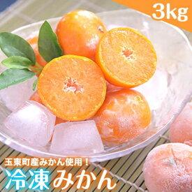 【ふるさと納税】冷凍みかん 3kg 玉東町産みかん使用 みかん 冷凍 フルーツ 果物 お中元 贈答 ギフト《5月上旬-6月下旬頃より順次出荷》
