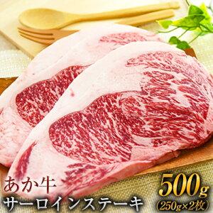 【ふるさと納税】熊本の和牛 あか牛 サーロイン ステーキ 250g×2枚 500g 熊本県産 肉 和牛 牛肉 赤牛 あかうし《3月下旬-4月下旬頃より順次出荷》