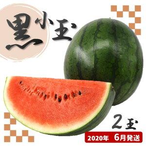 【ふるさと納税】黒小玉スイカ(赤色)熊本県和水町産【2020年6月発送】