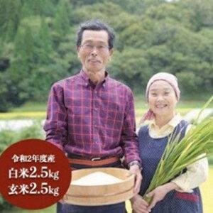【ふるさと納税】米 新米 白米 玄米 食べ比べ 無農薬 令和2年 ごんべえ米 5kg 熊本 南小国 送料無料
