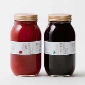 【ふるさと納税】木之内農園の果実ぎっしり手作り苺ジャム1kgとブルーベリージャム1kgセット