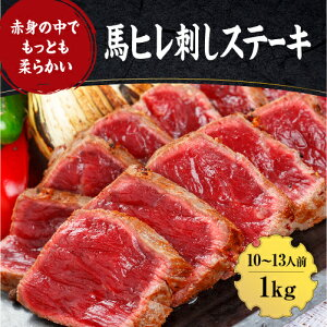 【ふるさと納税】熊本 馬刺し「ヒレ馬刺し 馬肉ステーキ」1キロ (100g×10パック)