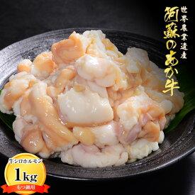 【ふるさと納税】くまもとあか牛シロホルモン(小腸)もつ鍋用1kg(500g×2パック)