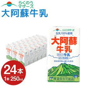 【ふるさと納税】大阿蘇牛乳 24本 250ml×24本 1ケース 牛乳 成分無調整牛乳 生乳100%使用 乳飲料 乳性飲料 らくのうマザーズ ドリンク 飲み物 飲料 セット 紙パック 常温保存可能 ロングライフ 送料無料
