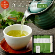 【ふるさと納税】OneDayセット50g×4袋茶葉日本茶緑茶お茶熊本県産九州産化粧箱入りギフト箱入り送料無料
