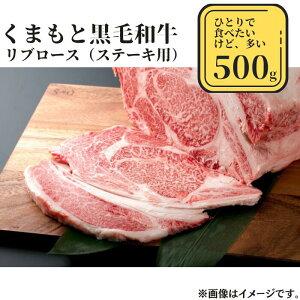 【ふるさと納税】熊本県産黒毛和牛 リブロース500g
