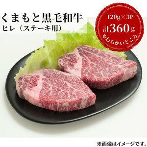 【ふるさと納税】熊本県産黒毛和牛 ヒレステーキ360g