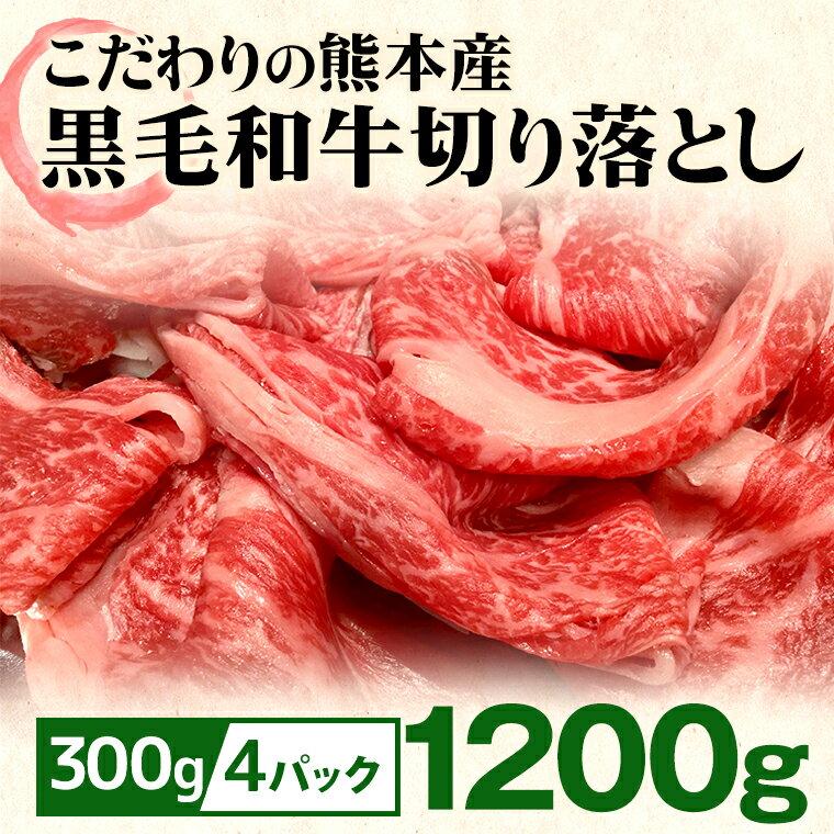 【ふるさと納税】黒毛和牛切り落とし(1200g)
