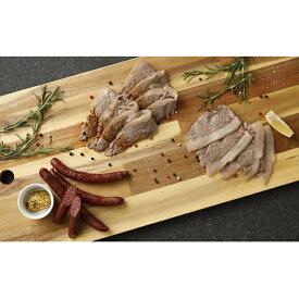 【ふるさと納税】熊本産ジビエ猪肉BBQセットモモ肉250gロース100gウインナー4本入り 【肉・いのしし・牡丹・ロース肉・もも肉・加工品・燻製・セット・詰め合わせ】