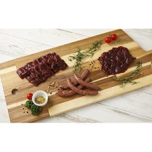 【ふるさと納税】熊本産ジビエ鹿BBQセットモモ肉300gロース130gウインナー4本 【肉・しか肉・桜肉・ロース肉・もも肉・加工品・燻製・セット・詰め合わせ】